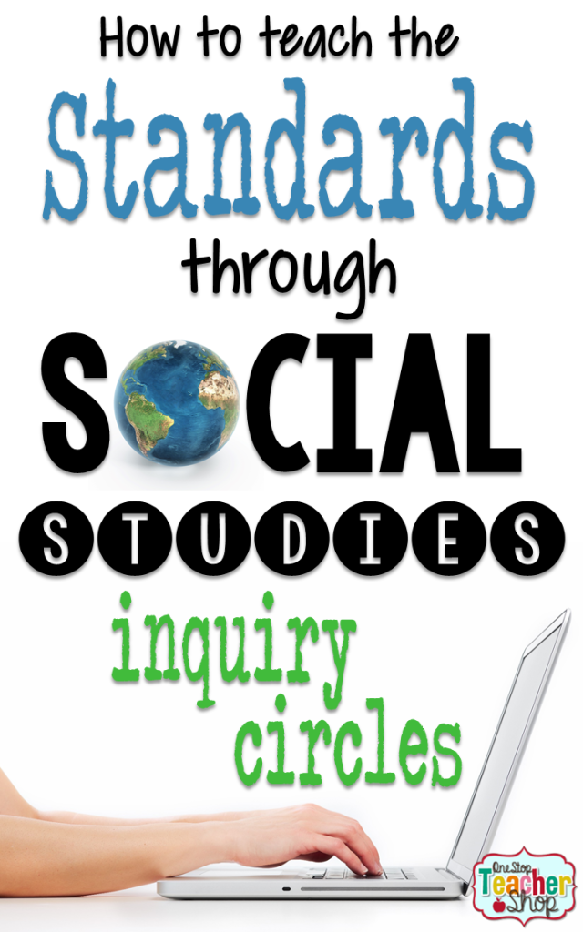Need some social studies project ideas? Learn how to make Social Studies more engaging for your students with inquiry circles. Inquiry circles reinforce social studies standards while teaching the research process.