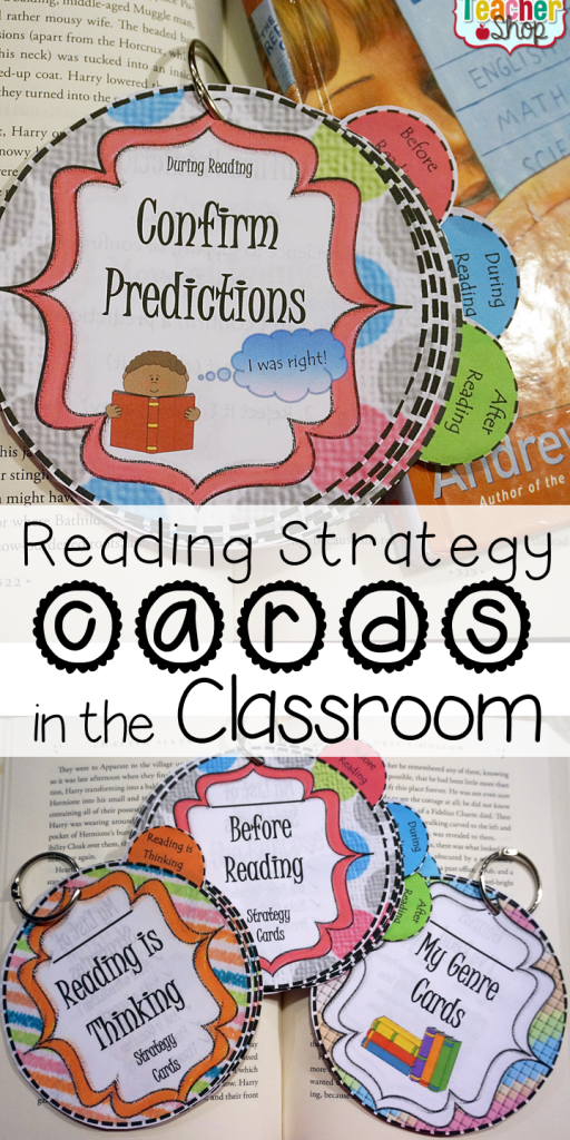 I'm loving this new approach to reading strategies that help with reading comprehension. Read more about my reading strategy cards and how they are helping my students use their strategies!