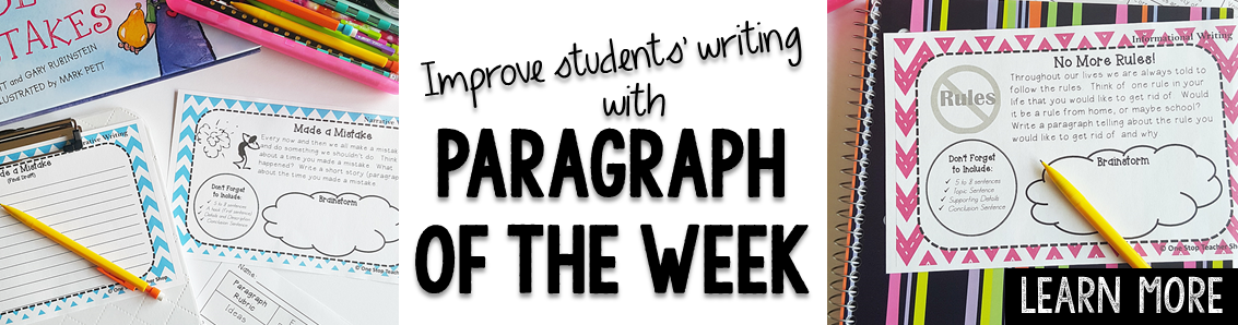 How Paragraph of the Week Homework Improved My Students' Writing!