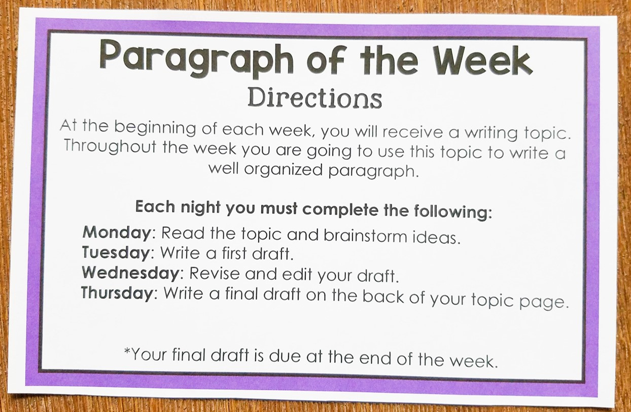 paragraph writing activities pdf creator