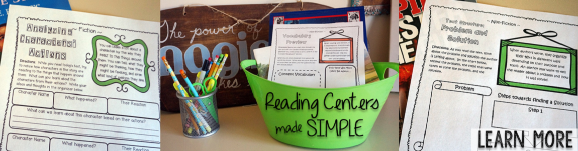 No-Fuss Reading Centers!