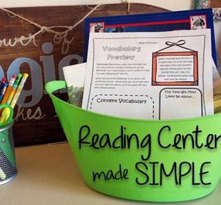 No-Fuss Reading Centers!