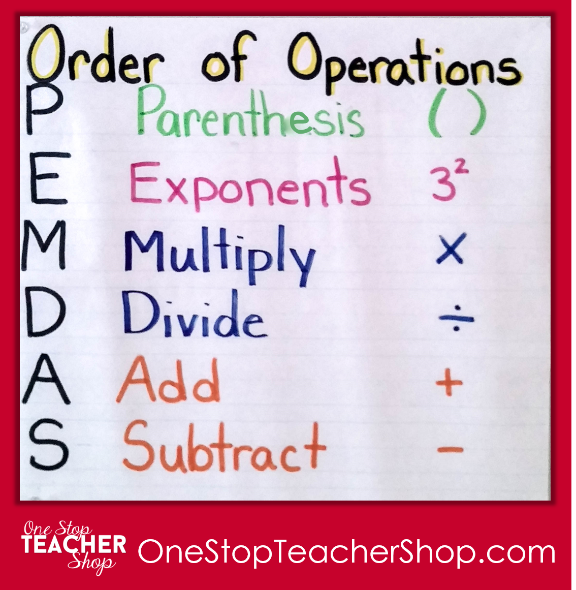 how to order of operations
