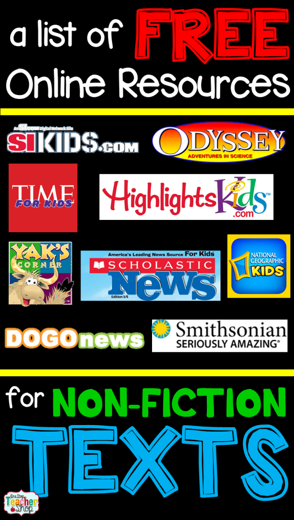 My list of free nonfiction articles that are all online. I'm always in need of online nonfiction texts, and this list has saved my life! (number 5 is my fav!)