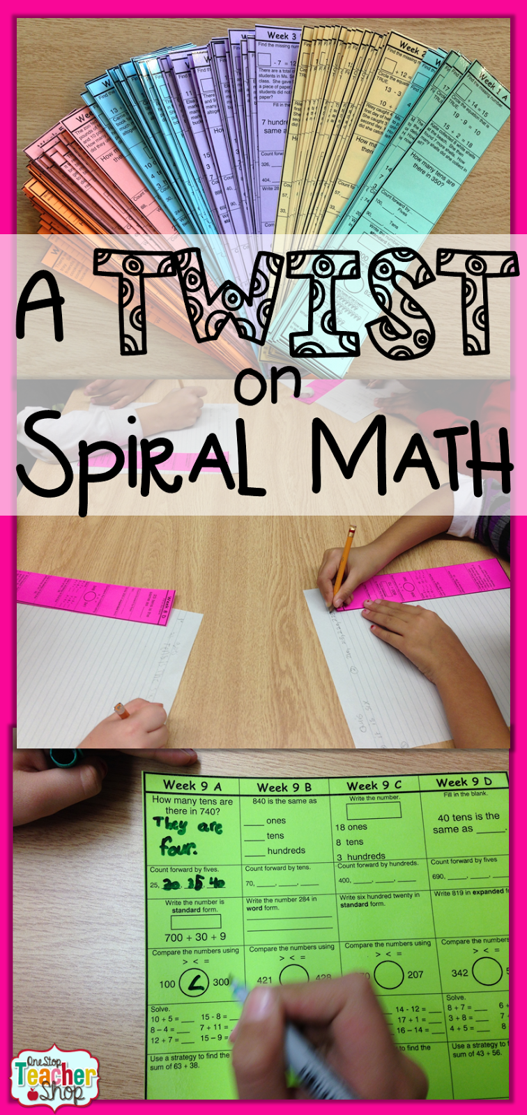 looking for a twist on spiral math one stop teacher shop