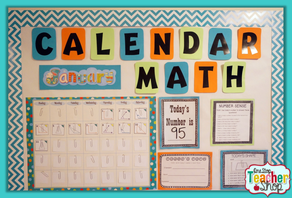 Calendar Design For Classroom : Calendar math in the classroom one stop teacher shop