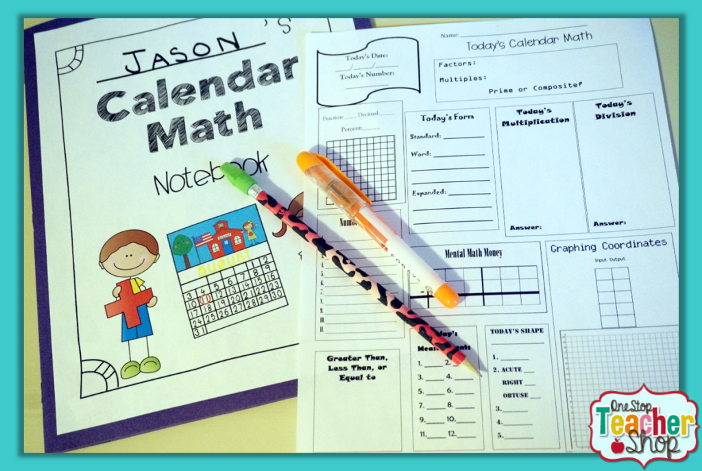 Math Calendar/Calendar Math for SmartBoard: Grades 1-3 Common Core ...