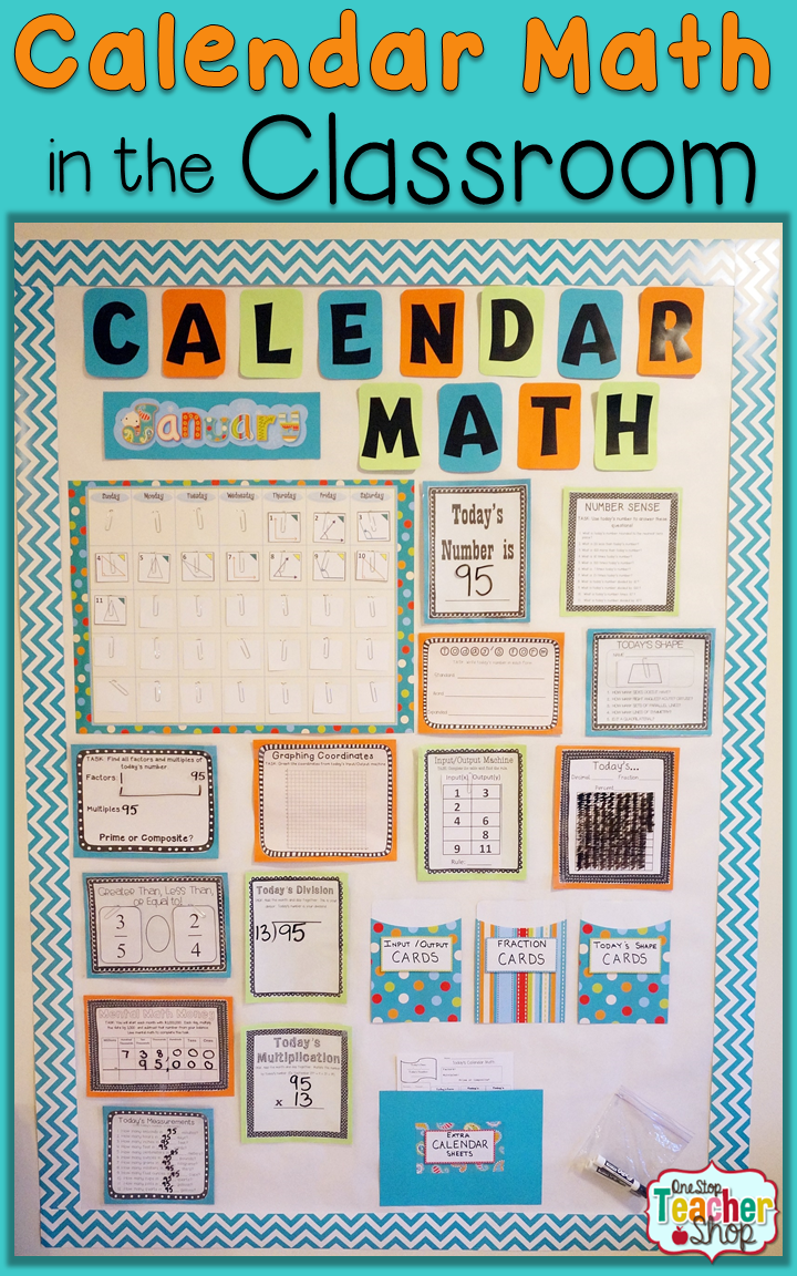 Kindergarten Calendar Math Ideas : Calendar math in the classroom one stop teacher shop