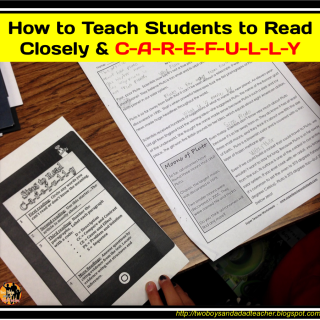 How to Teach Students to Read Closely and C-A-R-E-F-U-L-L-Y