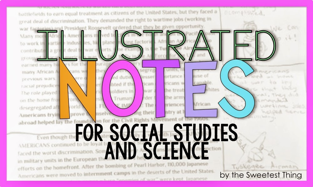 Learn how improve comprehension by using Illustrated Notes in your classroom in Science and Social Studies!