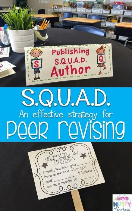 Publishing S.Q.U.A.D.s are a fun and effective way to conduct peer publishing in your writing class. Read all about it!