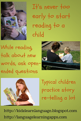 Here are some great tips for building language through shared reading.