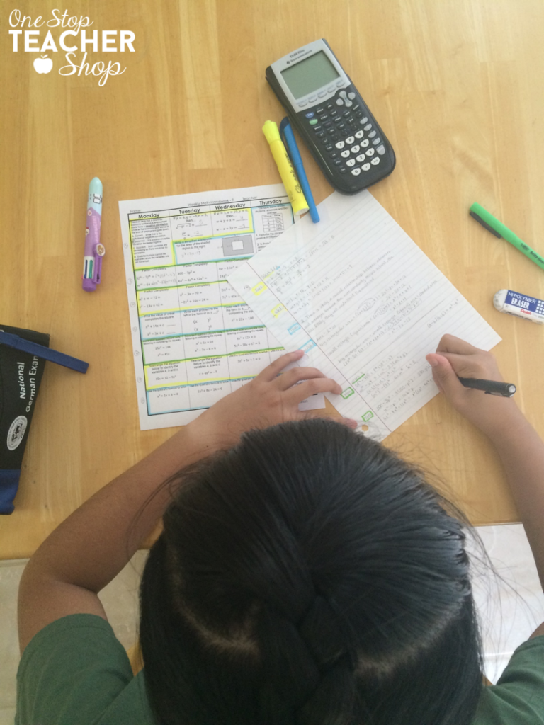 High school math homework can be complicated.  See how this high school math teacher uses spiral math homework to make homework more effective and less stressful for his students. (I love reading the student's perspective)