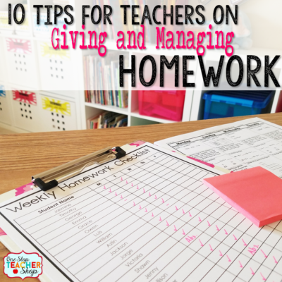 Create a homework schedule