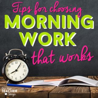 Morning Work that Works with your Morning Routine