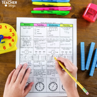 A Daily Math Review System for Homework or Classwork – Math Spiral Review