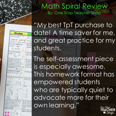 Spiral Math Review is the most effective resource in my classroom. Use it for Math Homework, Morning Work, or just a Daily Math Review. Math Spiral Review has never been this effective. Grades K-12 Available
