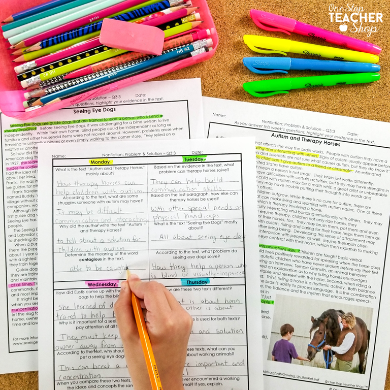 Daily Reading Review homework and morning work have proven to be the most effective resource for improving reading comprehension skills. Learn about my Reading Spiral Review System and why teachers love it. Reading Comprehension Passages with Text Dependent Questions