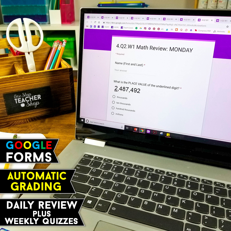 This DIGITAL Spiral Math Review system is the most effective resource in my classroom. You can use it for math homework, morning work, math centers, warm-ups, guided math or just a daily math review. These Google Forms are auto-grading and collect data. Now available for 1st, 2nd, 3rd, 4th, 5th, 6th, 7th, 8th Grade, and High School math. Perfect for Google Classroom.