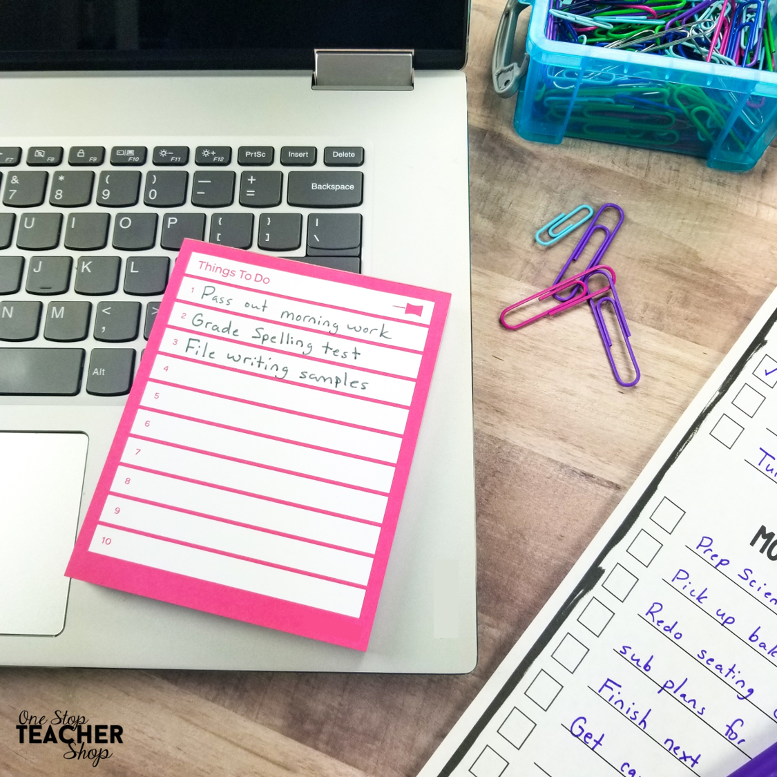 Time management can be tough for teachers, and getting everything done can seem impossible. Here are my top 10 tips for saving time in the classroom and shaving hours off your work week. | Time management for Teachers | To Do lists