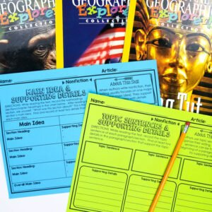 These easy reading response activities make fiction and nonfiction reading meaningful. Learn how these reading graphic organizers can take the stress out of reading centers and guided reading lessons.