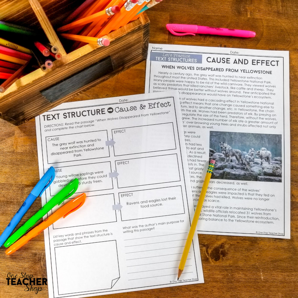 Teaching nonfiction text structures can be easy if you have the right activities and texts! This unit is FULL of professionally written passages for each text structure (Chronological Order, Sequence, Cause & Effect, Problem & Solution, Compare & Contrast, and Description), plus an anchor chart, assessment, student notes, games, and TONS of practice.